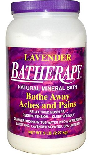 Batherapy Natural Mineral Bath, Lavender, 5 Pound (Bath Mineral Salts Batherapy)