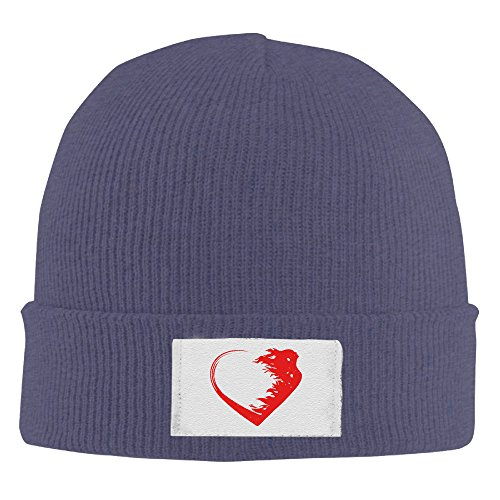 Heart Watch Anaheim Ducks - Creamfly Mens&Women Love Warrior Heart Wool Watch Cap