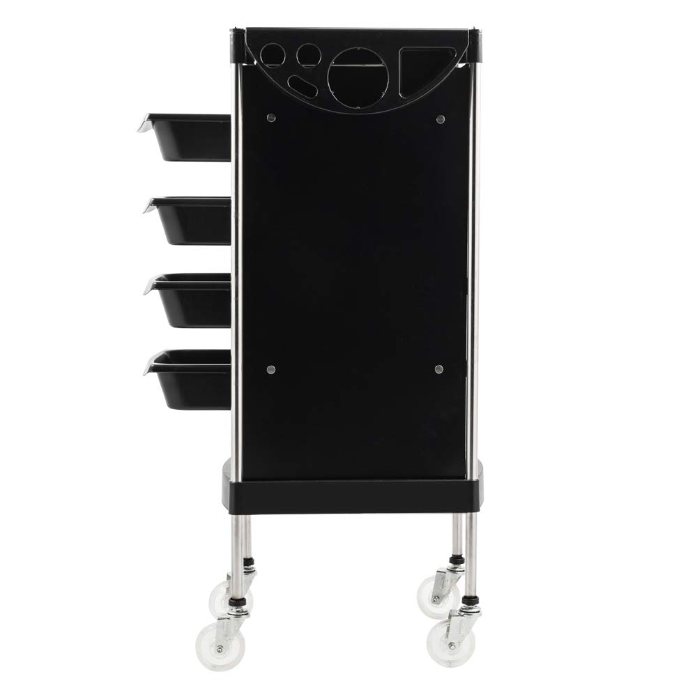 Mefeir Salon Trolley Cart with ABS Drawers, Metal Holder, Rolling Wheels for Stylist Hairdresser, Beauty Furniture Hair Styling Storage Station Color ...