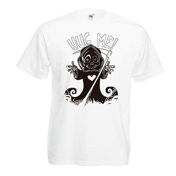lepni.me Camisetas Hombre ¡La Muerte Viene! Ropa de Halloween Esqueleto, Malvada Hoz de cráneo: Amazon.es: Ropa y accesorios