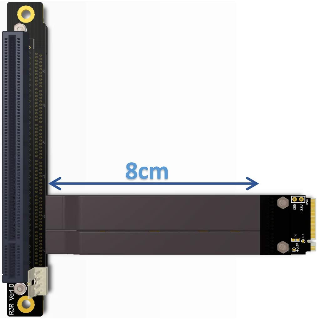 ADT-Link PCI-E 3.0 Riser Card 32G//BPS M.2 NGFF NVMe to PCIe x16 Extension Cable SATA Power Cable for BTC Mining M2 2230 2242 2260 2280 R43SL 35CM