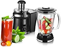 2in1 / 1,5 L.Smoothie Maker Ice Crusher + Saftpresse Entsafter Glas...