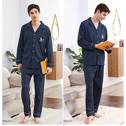 pigiama Da Da Pezzi Uomo Cotone Due E A Abbottonata Lunghi Top Pigiama In Manica Comfort Lw l cZW7gxHZ