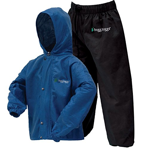 Frogg Toggs Polly Woggs Waterproof Breathable Rain Suit, Youth, Blueberry, Size Medium