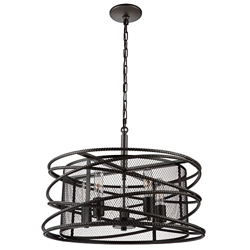 Artcraft Lighting Artcraft AC10822JV Rebar Studio 5-Light Chandelier, Dark Java Brown