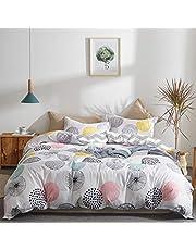 Uozzi Bedding Colorful Dots Comforter Set Queen Size Pink Yellow Gray Blue Circles Print Reversible Down Alternative 800 TC Adult Teen Duvet Sets 1 Microfiber Comforter with 2 Pillow Shams