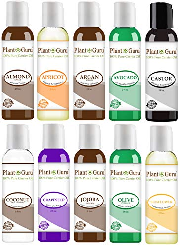 Top 10 Carrier Oil Variety Set 2 oz - Cold Pressed 100% Pure