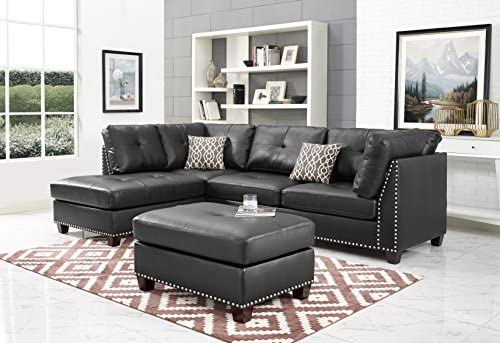 Amazon.com: Madrid Modern Sectional with Chaise in Espresso ...