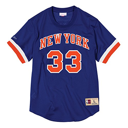 77219eca62fe Mitchell   Ness Patrick Ewing New York Knicks  33 NBA Name and Number Mesh  Jersey (Xlarge)