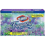 Clorox Fraganzia Fabric Softener Dryer Sheets | Conditions Fabric and Control Static Cling, 40 count