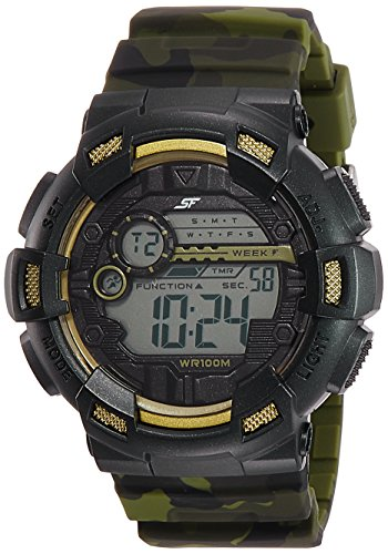 Sonata Digital Black Dial Men's Watch 77053PP02