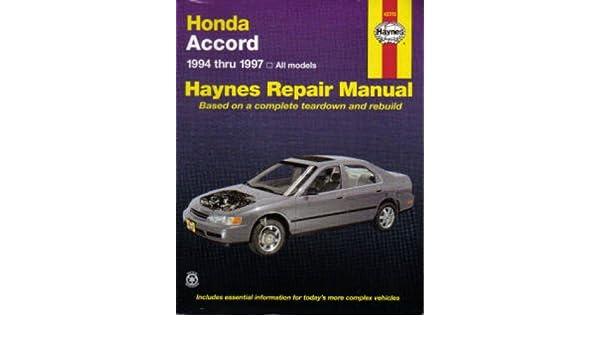 97 honda accord repair manual