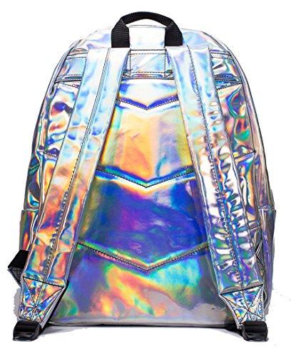 mochila Holographic Hype Mochila y De niños para Bolso Grey Holografico Ideal niñas Escuela Bolsas SOWS0rv