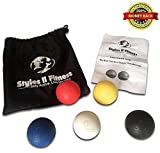 Styles II Fitness Lacrosse Massage Balls - Relieve Any Ache Or Pain - Improve Workouts And Joint Mobility - For Men and Women (set of 5) With Carrying Bag and User Guide