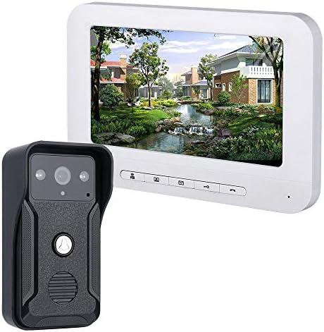 700TVLカメラ付き7インチのビデオドアの電話ドアベルインターホンキット1カメラ1モニタナイトビジョン