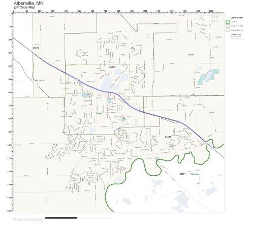 ZIP Code Wall Map of Albertville, MN ZIP Code Map - Map Albertville