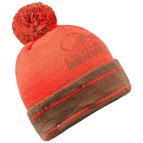 Forever Collectibles NFL Cleveland Browns LED Pom Pom Knit Hat, Orange, One Size
