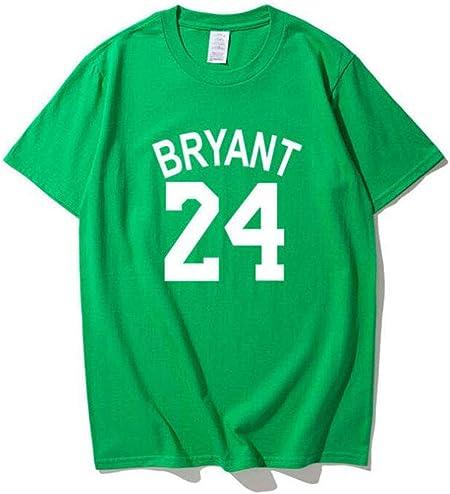 MMADD Nº 24 de la Camiseta, Entrenar Traje Masculino de Baloncesto Kobe Camiseta de la Camisa,Verde,S: Amazon.es: Hogar