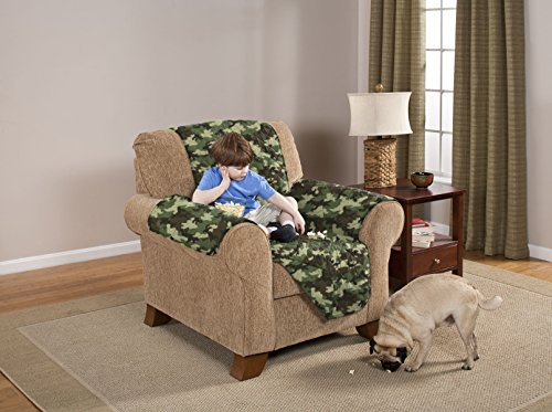 Deluxe Reversible Chair Furniture Protector, Camouflage (Camo Recliners On Sale)
