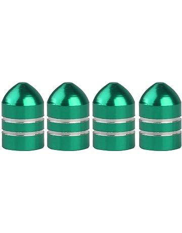 Upper 4pcs Tapas Tapones Válvula Neumático para Rueda Motocicleta Coche Forma Bala (Verde)