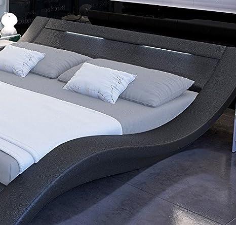 Muebles Bonitos - Cama de diseño modelo Calpe en color Negro 160x200cm: Amazon.es: Hogar