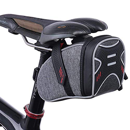 - camgo Bike Wedge Saddle Bag Mountain Road Bike Seat Pack Cycling Repair Tools Pocket Supplies (Gray-2)