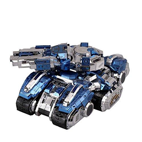 MU 3D Metal Puzzle Siege Tank Model Kits YM-N030-DBS DIY 3D Laser Cut Assemble Jigsaw Toy