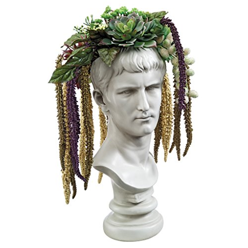 Design Toscano Bust Planter of Antiquity Statue, Emperor Caligula