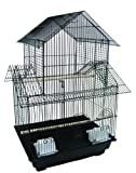 YML 3/8-Inch Pagoda Top Cage in Black, 16 by 16-Inch, My Pet Supplies