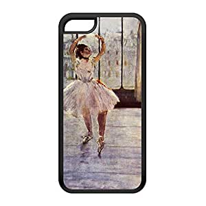 Ballerian Girl 2 by Edgar Degas Black Silicon Rubber Case for iPhone 5C by Painting Masterpieces + FREE Crystal Clear Screen Protector