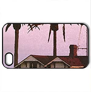 New Point Loma Lighthouse, California - Case Cover for iPhone 4 and 4s (Lighthouses Series, Watercolor style, Black)