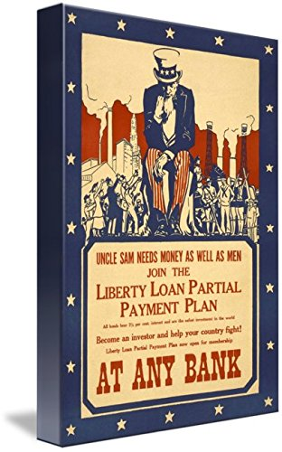 Wall Art Print entitled Uncle Sam Wants Your Money