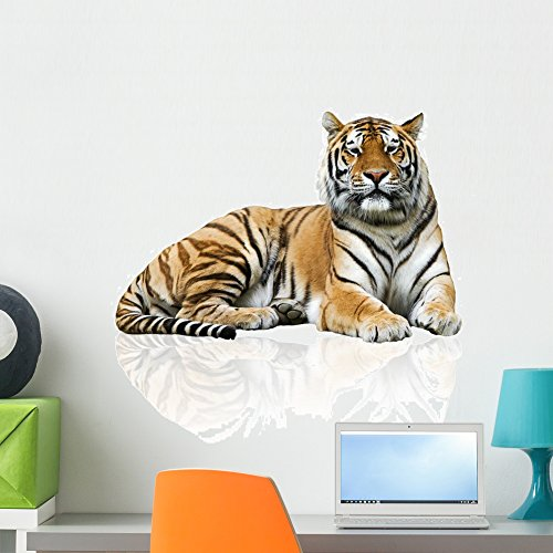 Wallmonkeys Tiger Wall Decal Peel and Stick Graphic (24 in H x 24 in W) WM221894