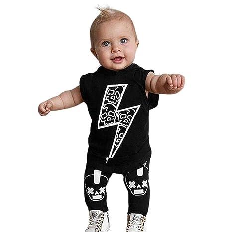 Qiusa Baby Unisex Toddler Kids Lindos Tops + Pantalones 0343e2a0a6d