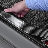 ZaCoo 3D Carbon Fiber Rubber Car Door Sill Protector Guard Stickers Bumper Door Guard/Rear Bumper Guard Scratch Scratch Protection Strip (Width 2 in, Long 6.56 ft)