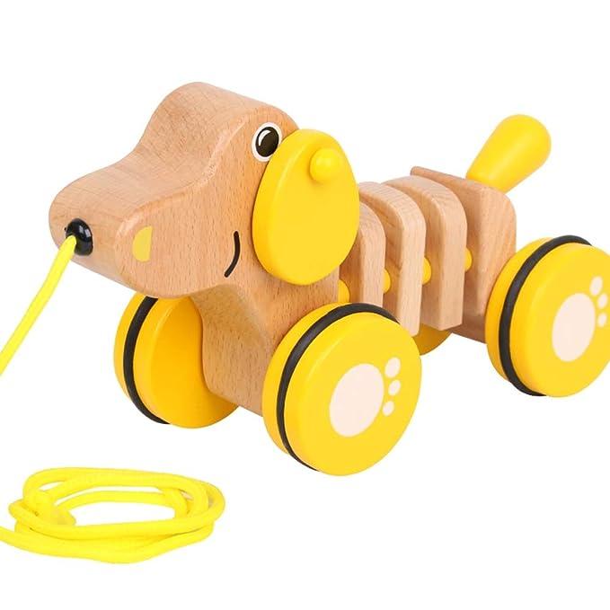Markc Juguetes for niños pequeños que tiran Diversión de madera ...
