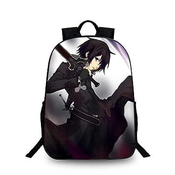 Cosstars Sword Art Online Anime Imagen Estudiante Mochila de la Escuela Bolsas Escolar Bolsa de Ocio Viaje Backpack /1: Amazon.es: Equipaje