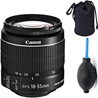 Canon 18-55mm IS STM Lens (WHITE BOX) + Deluxe Lens Blower Brush + Lens Carrying Pouch