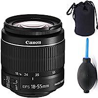 Canon 18-55mm IS STM Lens (WHITE BOX) + Deluxe Lens Blower Brush + Lens Carrying Pouch