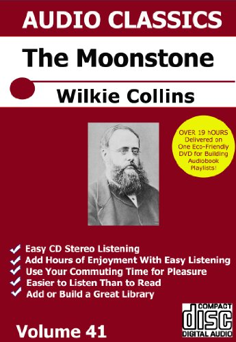 Moonstone Audiobook by Wilkie Collins on 1 DVD for Making iPod Smartphone Playlist Audio Books ()