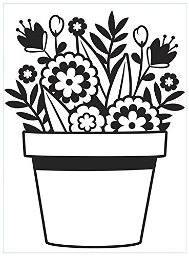 EMBOSSING FOLDER-FLOWER POT Darice 385878
