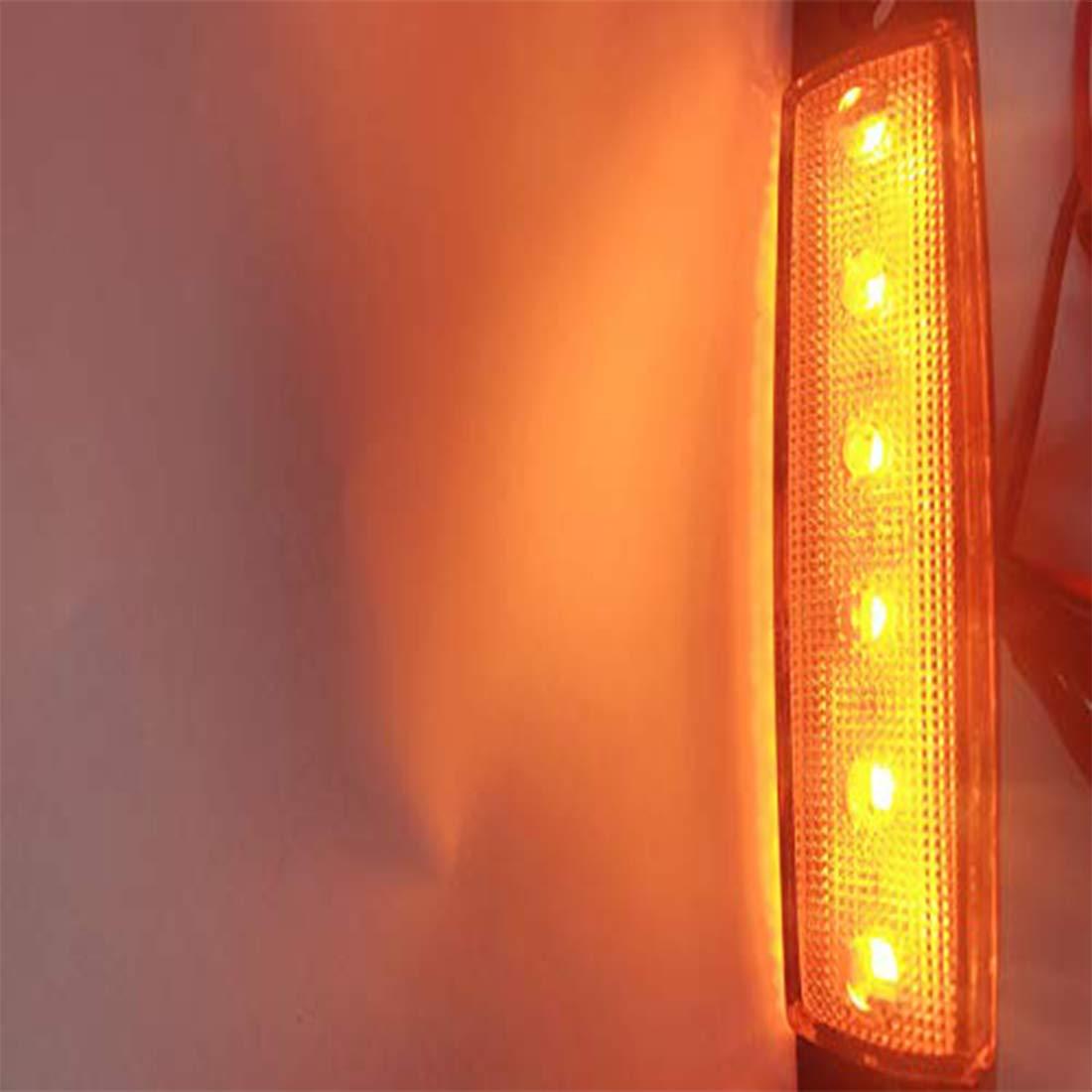 RV Marker light amber Led Marker Lights for Trucks NBWDY 10pc 3.8 6 LED amber Side Marker Lights Rear Side Marker Lamp Amber Cab Marker amber Trailer Marker Lights