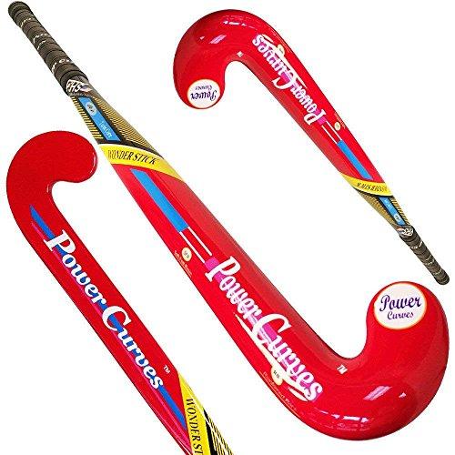 (Power Curves Field Hockey Stick Junior Composite Wonder Stick 35 Inch 10% Carbon Free Cover)