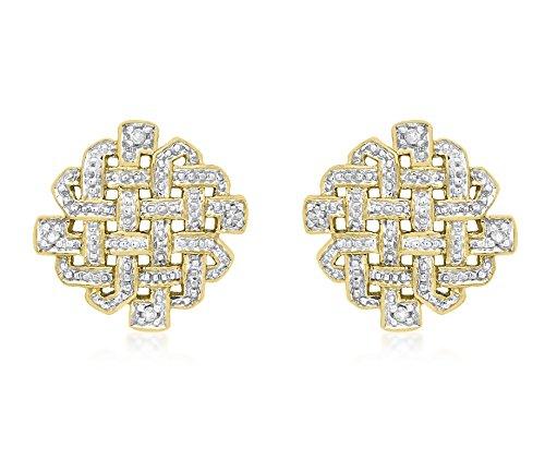 Carissima Gold - Boucles d'Oreilles Pendantes - 1.58.602G - Femme - Or Jaune 375/1000 (9 Cts) 2.5 Gr - Diamant