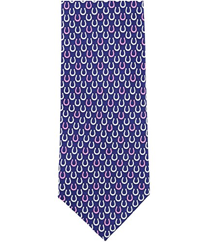 Tommy Hilfiger Mens Horseshoe Necktie Blue One Size from Tommy Hilfiger