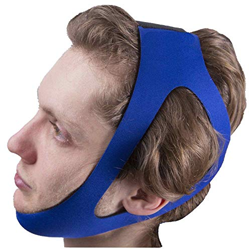 Chin Strips Strap for Stop Snoring, Elastic Belt Band with Adjustable Locker,Comfortable & Breathable, Universal Size