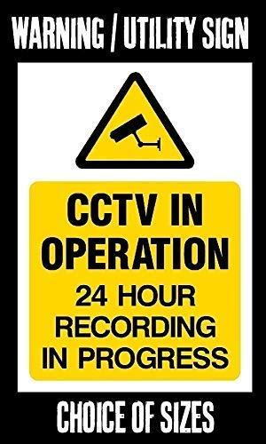 LynnYo22 CCTV en Funcionamiento Metal Cartel 12 x 18 ...