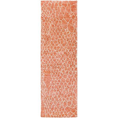 Surya BJR1009-268 Hand Knotted 100-Percent Hemp Natural Fiber Runner, 2-Feet 6-Inch by - Poppy 268