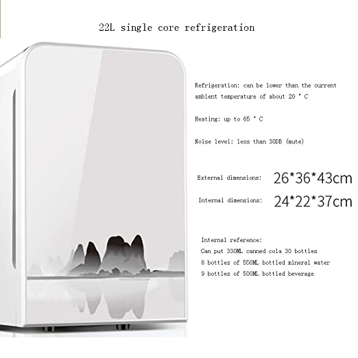 Xyanzi Frigoríficos Mini Mini Escritorio, Refrigerador De 22 ...