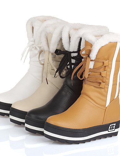 Nieve us10 Uk8 Eu42 Zapatos 5 us6 Botas 5 U Eu36 Punta Xzz De Oficina Casual Redonda Yellow Y Cn43 Vestido Mujer Cn36 Semicuero Yellow Uk4 Trabajo negro Plataforma qXwxUdH